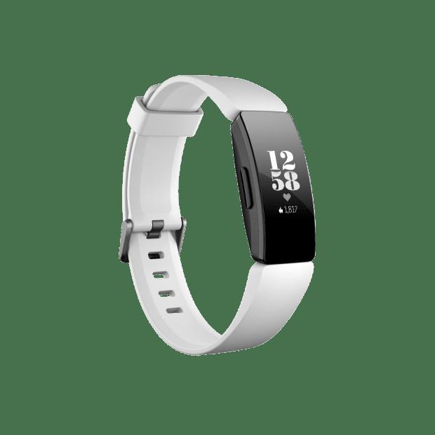 Fitbit Inspire HR Fitness Tracker - White/Black #1
