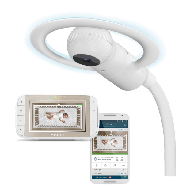 Motorola Halo+ Over-the-Crib HD Wi-Fi Baby Monitor & Soother #1