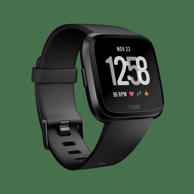 Fitbit Versa™ Watch - Black/Black Aluminum #1