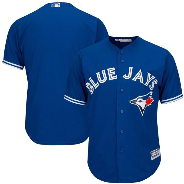A.J. Sportsworld Toronto Blue Jays Majestic Blue Official Cool Base Baseball Jersey - Large