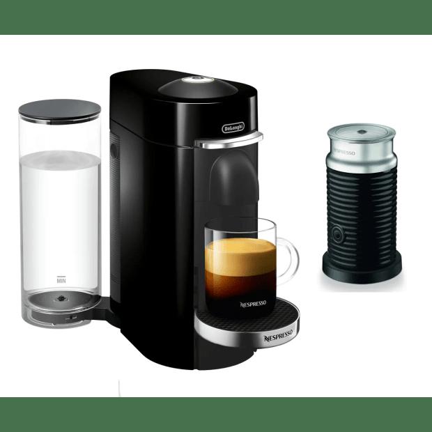 Nespresso Vertuo Plus Deluxe Coffee and Espresso Machine with Aeroccino  - Black