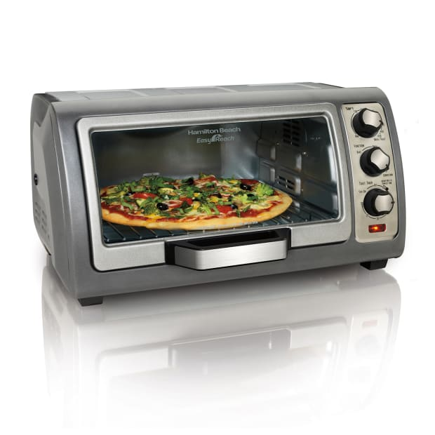Hamilton Beach® Easy Reach® Toaster Oven with Roll-Top Door #1