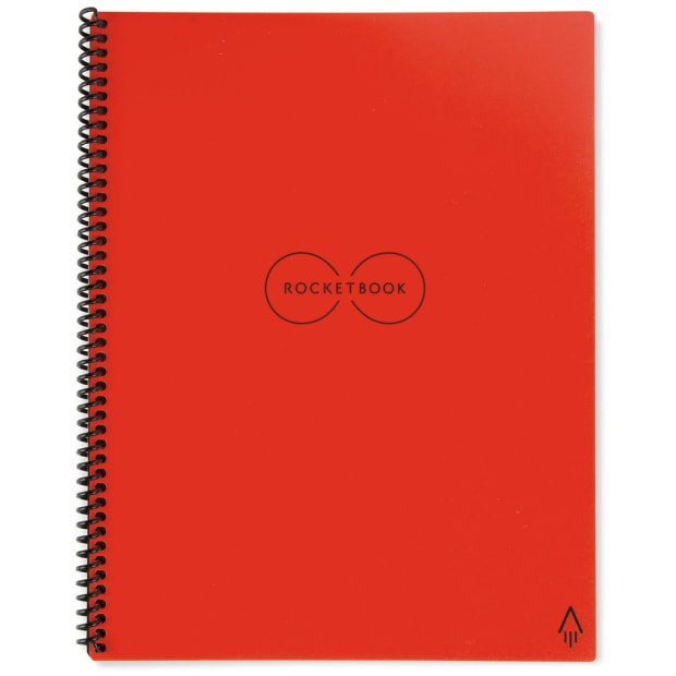 Rocketbook Everlast Notebook with Pilot Frixion Pen and Wiping Cloth - Atomic Red #1