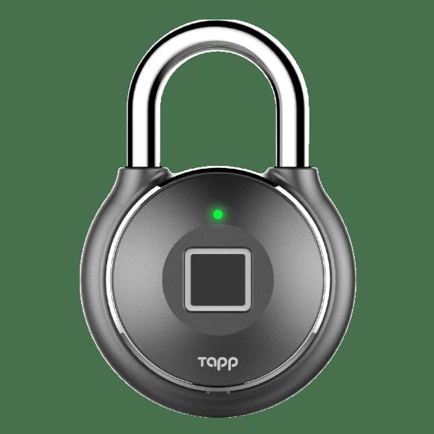 Tapplock one+ Smart Fingerprint Padlock - Gun Metal