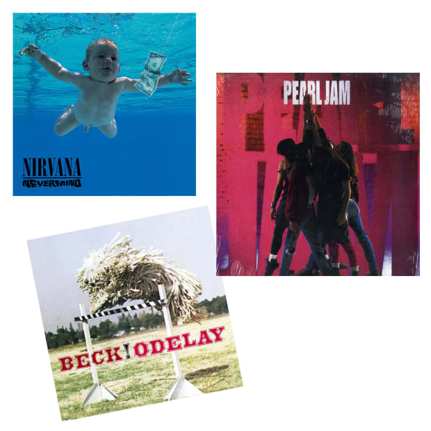 90s Alternative Rock Classics  Vinyl Records Bundle - Odelay, Nevermind & Ten #1