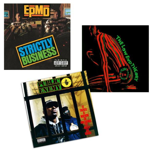 Early Hip-Hop Classics Collection Vinyl Records Bundle - It Takes A Nation Of Millions, Strictly Business & The Low End Theory #1