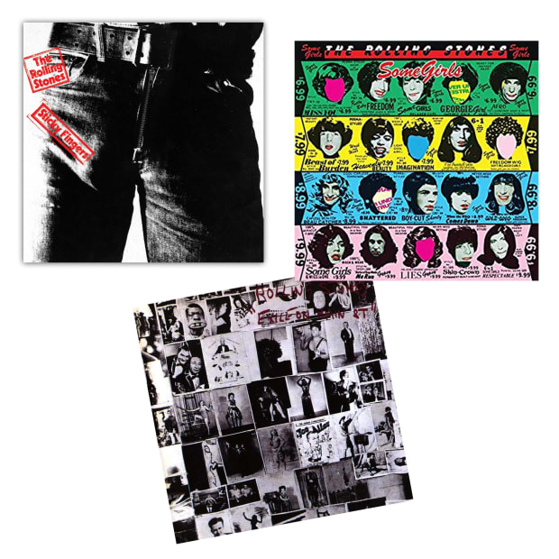 Rolling Stones Collection Vinyl Records Bundle - Exile On Main St., Some Girls & Sticky Fingers #1