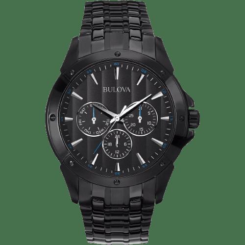 Bulova Men's Stainless Steel and Black Ion Quartz Classic Watch