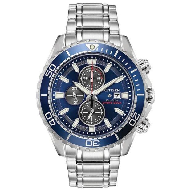 Citizen Promaster Diver Men's Silver Bracelet with Blue Dial Watch