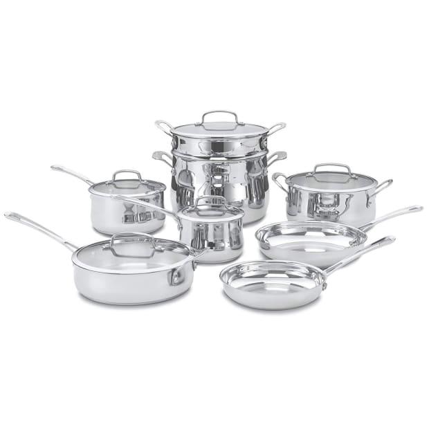 Cuisinart® 13-Piece Contour Stainless Cookware Set