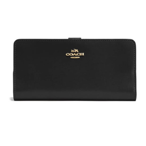 Coach Skinny Wallet - Black/Light Gold #1