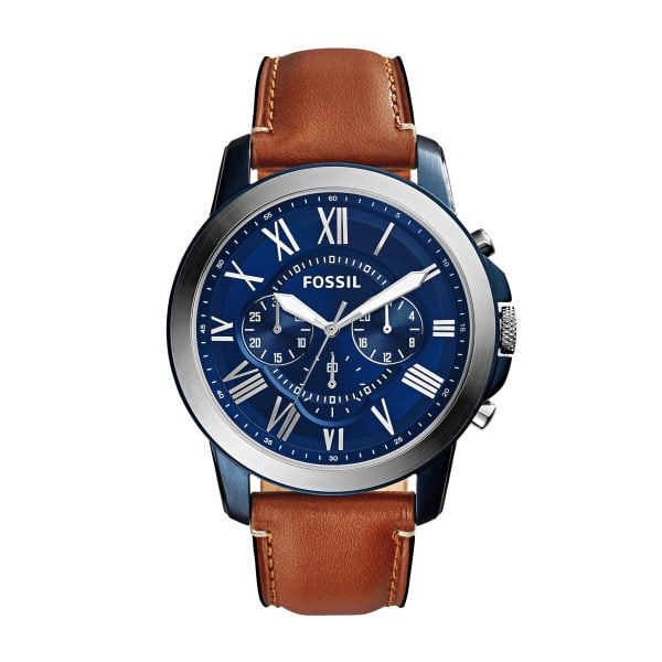 Fossil Grant Chronograph Light Brown Leather Men's Watch #1