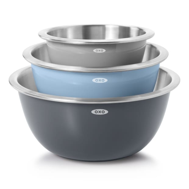 OXO Good Grips 3-Piece Stainless Steel Mixing Bowl Set #1