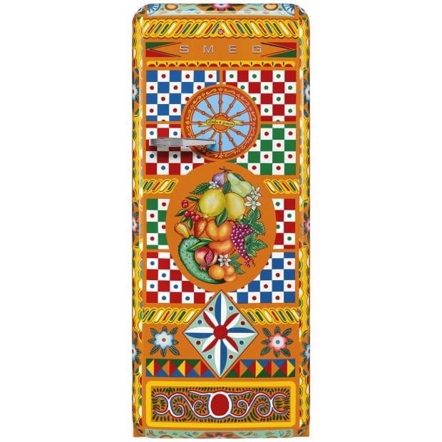 SMEG Dolce & Gabbana Sicily is my Love Divina Cucina Refrigerator #1