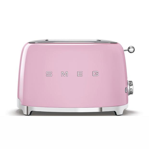 SMEG 50's Retro Style Aesthetic 2-Slice Toaster - Pink #1