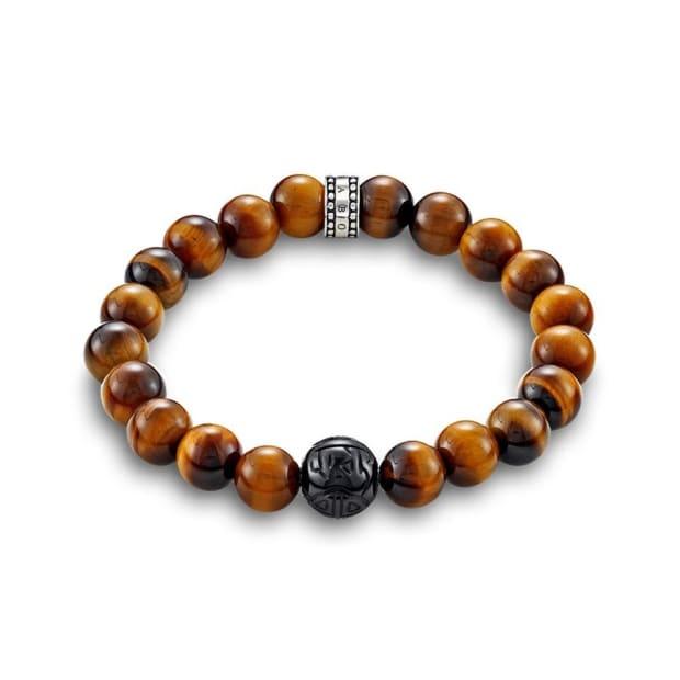 Thomas Sabo Rebel at Heart Tiger's Eye Brown Bracelet #1