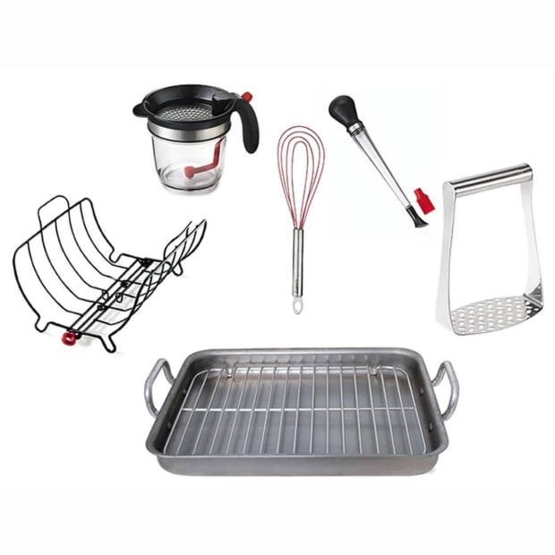Cuisipro Roasting Bundle with de Buyer Roasting Pan