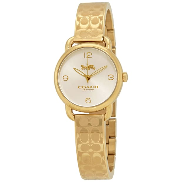 Coach Delancey Gold-Toned Dial Ladies Bangle Watch #1