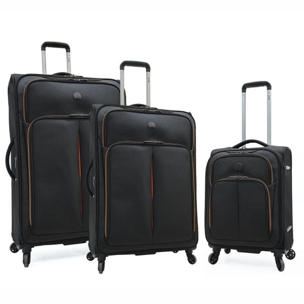Delsey Super Lite 2.0 3-Piece Luggage Set - Black