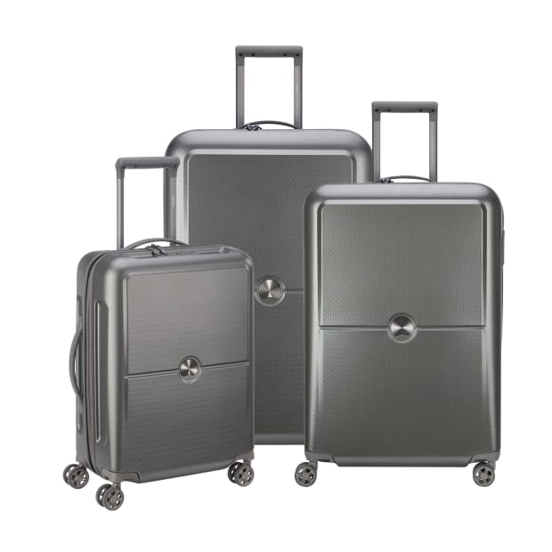 Delsey Turenne 3-Piece Luggage Set - Silver