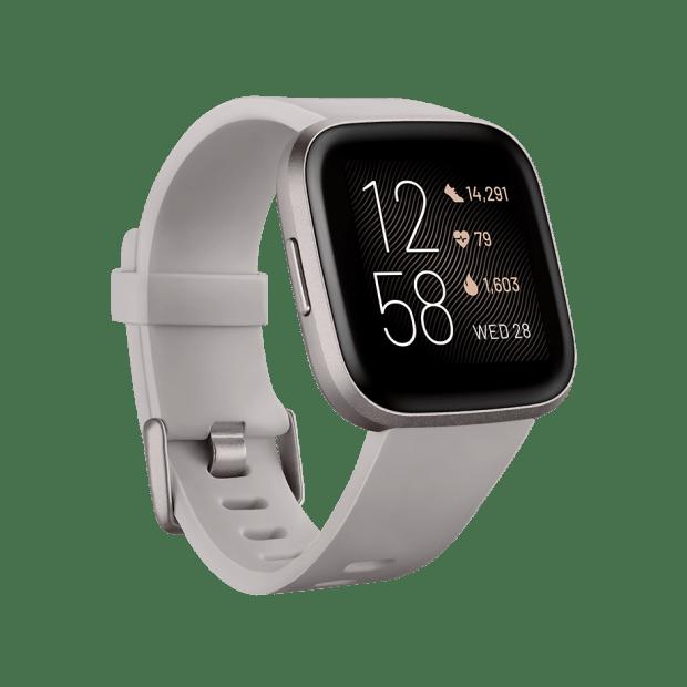 Fitbit Versa 2 Smartwatch – Stone/Mist Grey Aluminum #1
