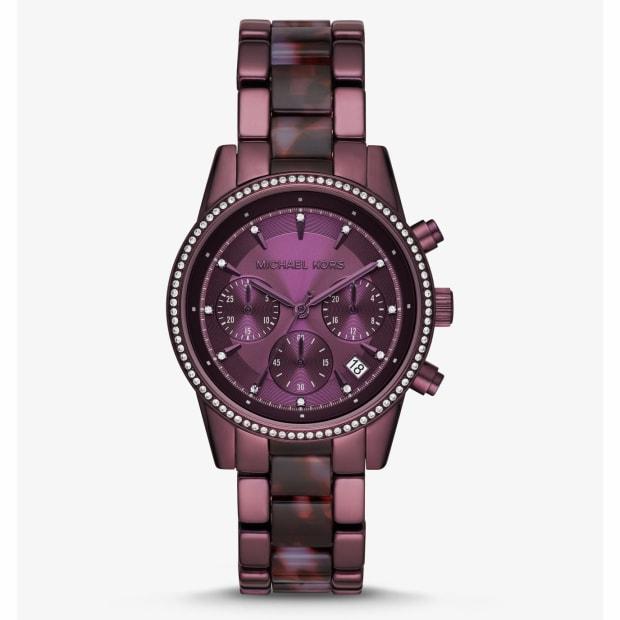 Michael Kors Ritz Pavé Lavender-Tone Watch #1