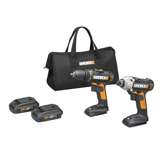 Worx 20V Power Share Drill & Impact Driver Combo Kit