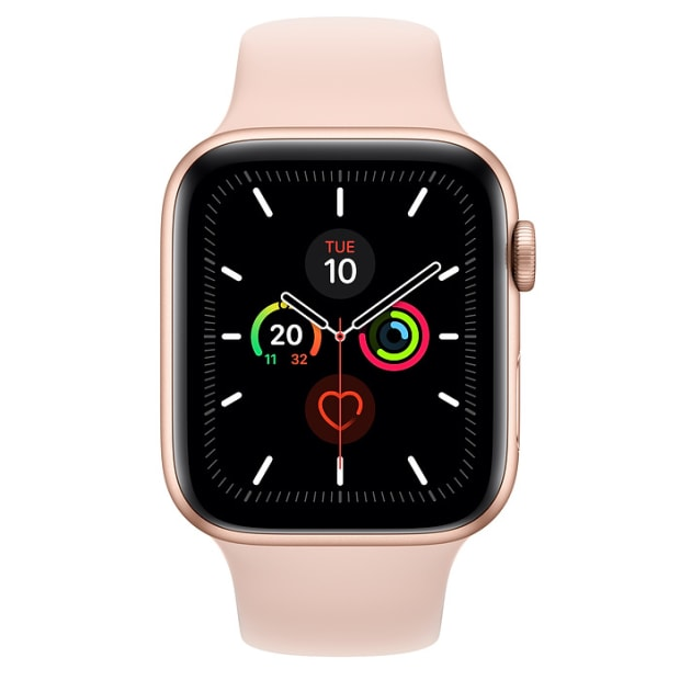 Apple Watch Series 5 Gold Aluminium Case with Pink Sand Sport Band - 44mm - GPS #1
