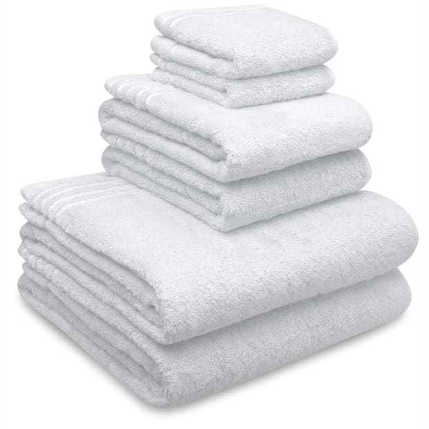 LuxeportSPA Bamboo Heavenly Soft Towels - White - Set of 6
