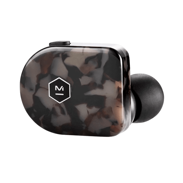 Master & Dynamic MW07 True Wireless Earbud - Grey Terrazzo Acetate #1