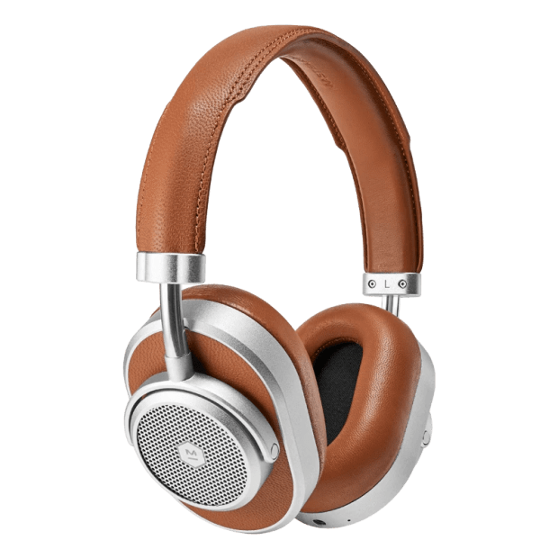 Master & Dynamic MW65 Active Noise-Cancelling Wireless Headphones - Silver Metal/Brown Leather #1