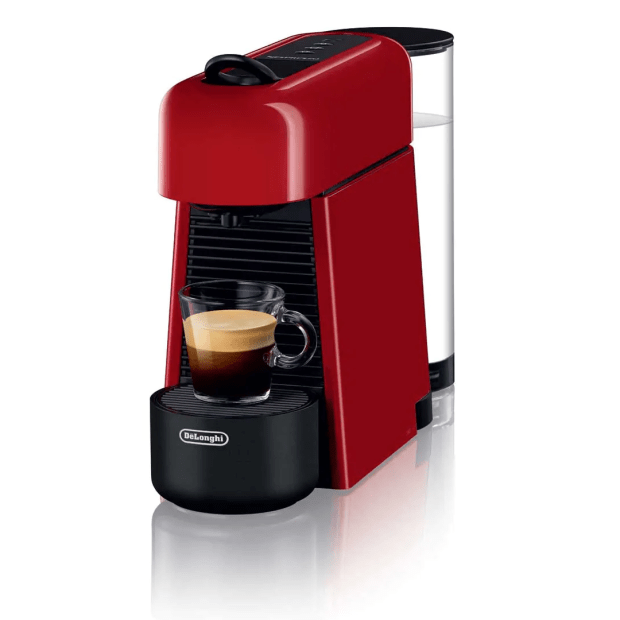 Nespresso Essenza Plus Espresso Machine by De'Longhi - Shiny Red #1