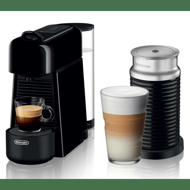 Nespresso Essenza Plus Machine with Aeroccino by De'Longhi - Piano Black