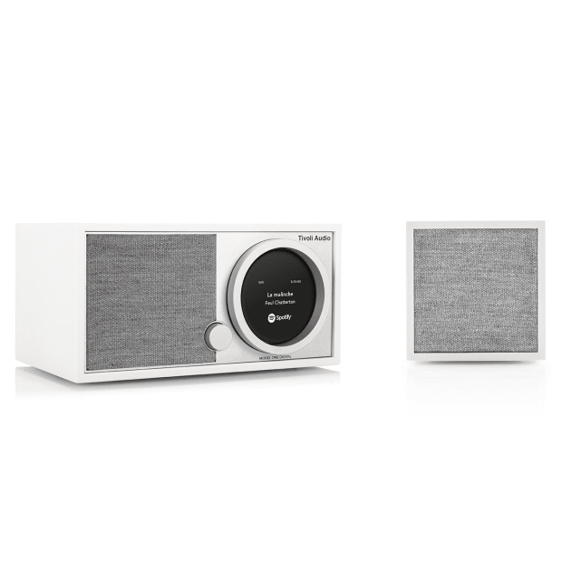Tivoli Model One Digital Wi-Fi Radio with Cube Wi-Fi Speaker Bundle - White/Grey #1