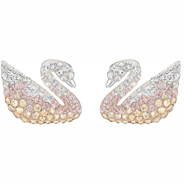 Swarovski Iconic Swan Pierced Earrings - Multi-Colored #1