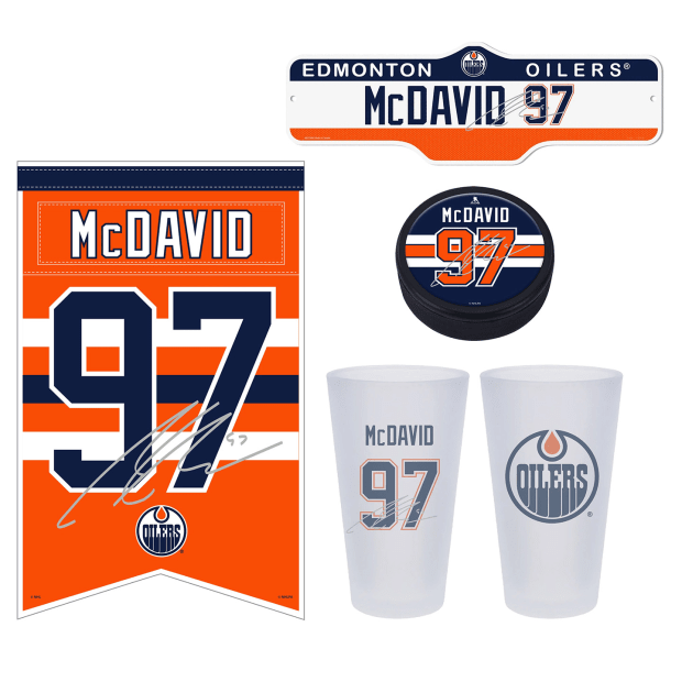 NHL Connor McDavid 4-Piece Fan Bundle
