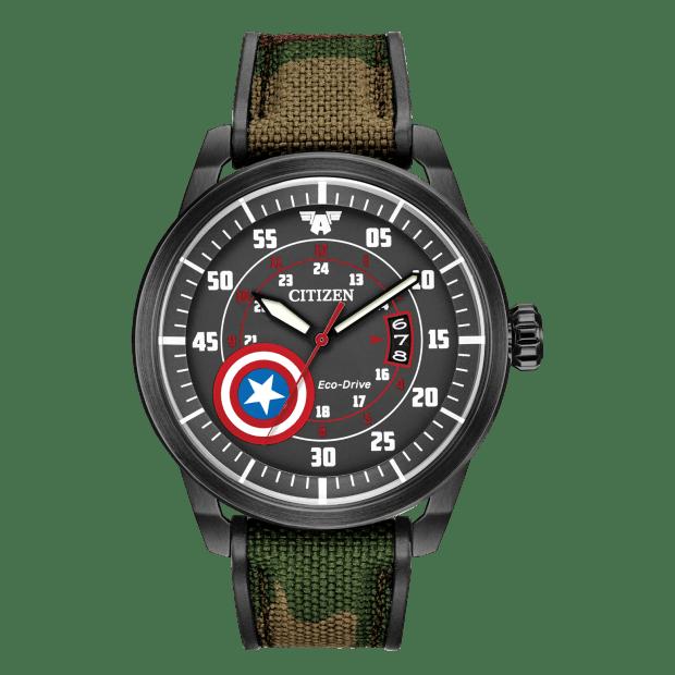 Citizen Marvel Captain America Eco-Drive Black Watch #1