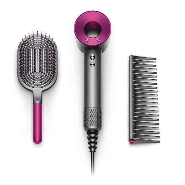 Dyson Supersonic Hair Dryer Fuchsia + Brush/Comb Kit #1