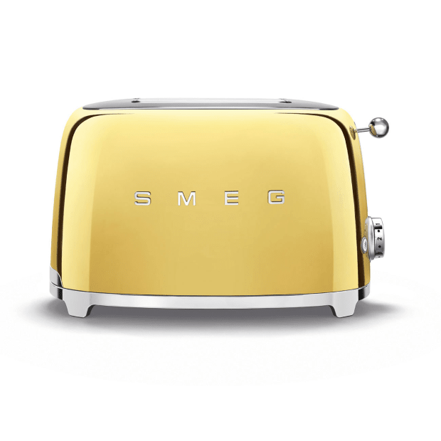SMEG 50's Retro Style Aesthetic 2-Slice Toaster - Gold #1