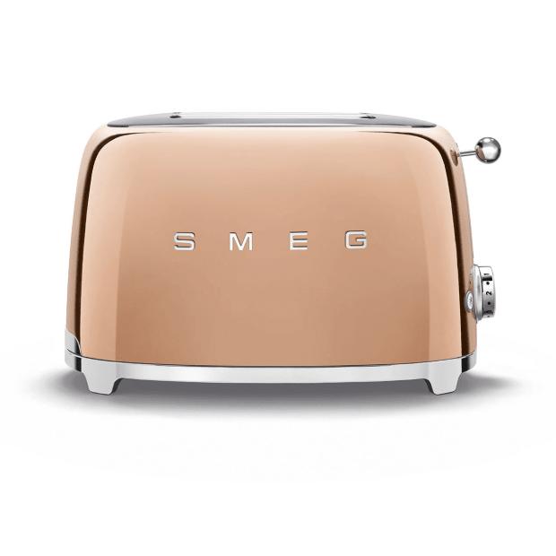 SMEG 50's Retro Style Aesthetic 2-Slice Toaster - Rose Gold #1