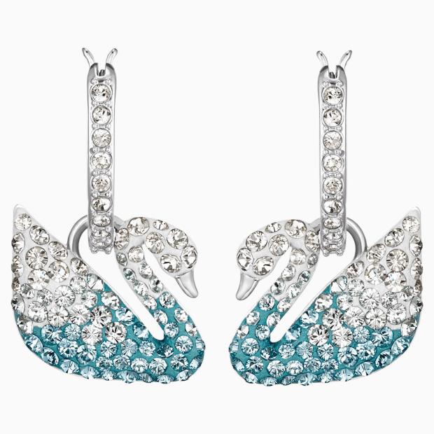 Swarovski Iconic Swan Pierced Earrings #1