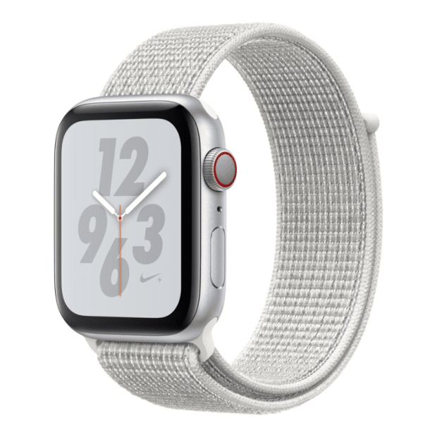 Apple Watch Nike+ Series 4 - Silver Aluminum Case with Summit White Sport Loop - 44mm - GPS + Cellular #1