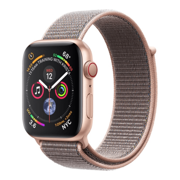 Apple Watch Series 4 - Gold Aluminum Case with Pink Sand Sport Loop - 40mm - GPS + Cellular #1