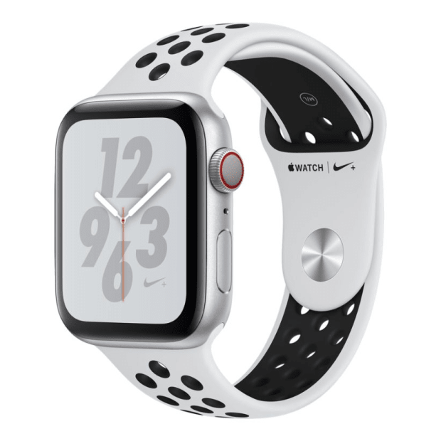 Apple Watch Nike+ Series 4 - Silver Aluminum Case with Pure Platinum/Black Sport Loop - 40mm - GPS + Cellular #1