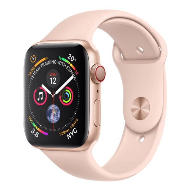 Apple Watch Series 4 - Gold Aluminum Case with Pink Sand Sport Loop - 44mm - GPS + Cellular #1