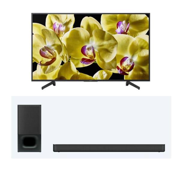 "SONY® XBR-55X800G 55"" 4K HDR UHD TV and SONY® HT-S350 2.1-Channel Soundbar Bundle"