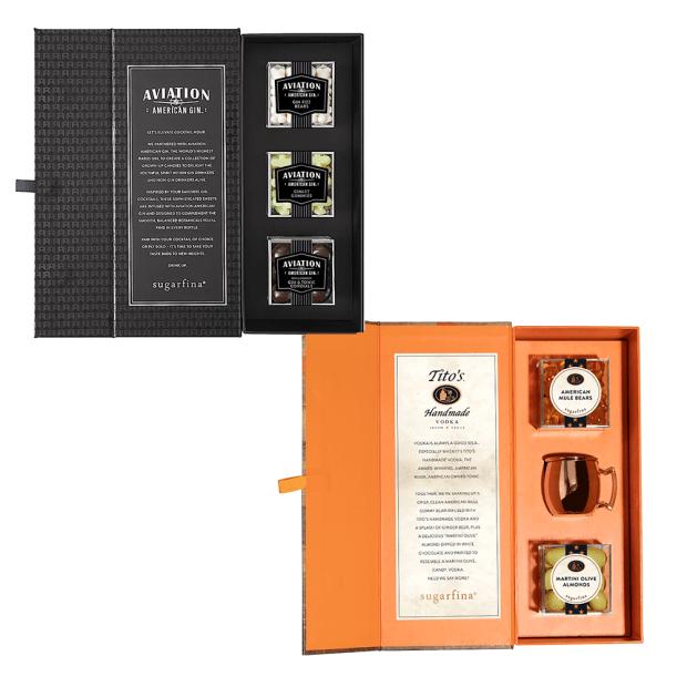 "Sugarfina® Candy Bento Box Set - Aviation Gin 3-Piece Non-Alcoholic Bento Box & ""Vodka Is Always A Good Idea"" Candy Bento Box (Non Alc.) #1"