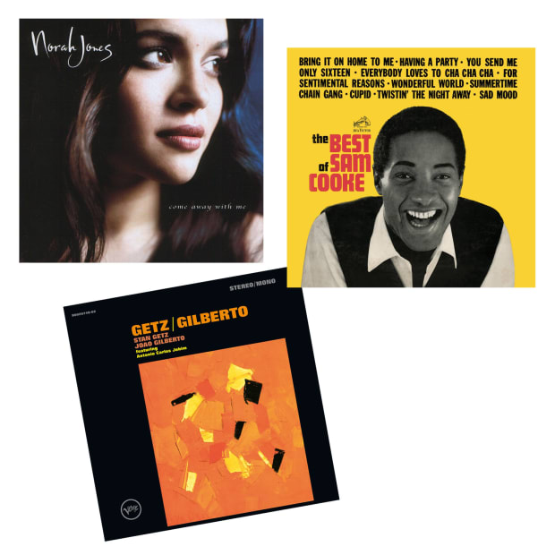 Romance Vinyl Records Bundle  - Getz/Gilberto, The Best Of Sam Cooke & Come Away With Me #1