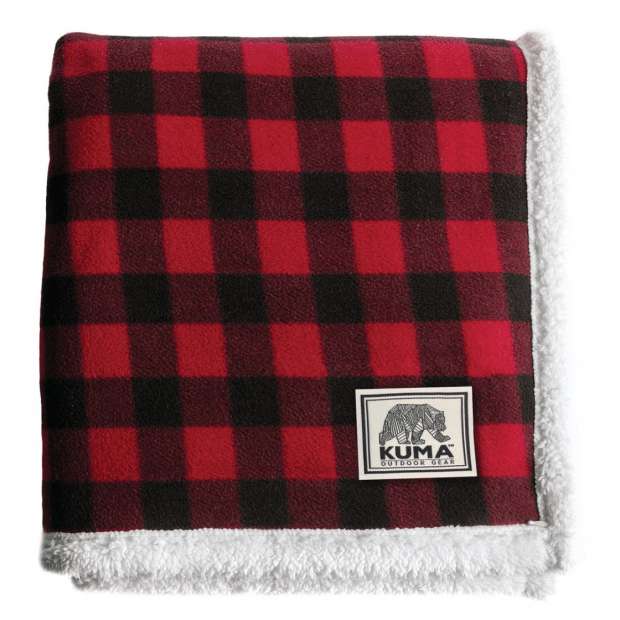 Kuma Lumberjack Sherpa Throw - 60'' x 70'' - Red/Black #1