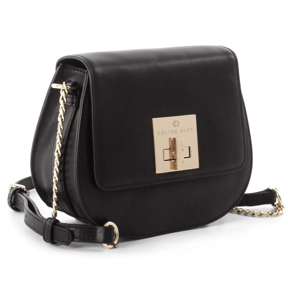 Céline Dion Minuet Flap Closure Handbag - Black #1